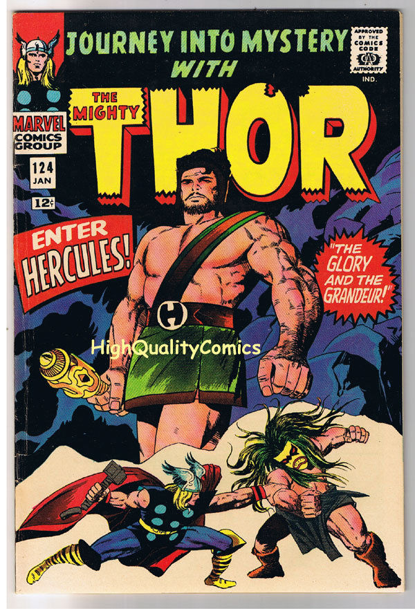 THOR aka JOURNEY into MYSTERY 124, FN+, Thunder God, 1952, more Thor in store