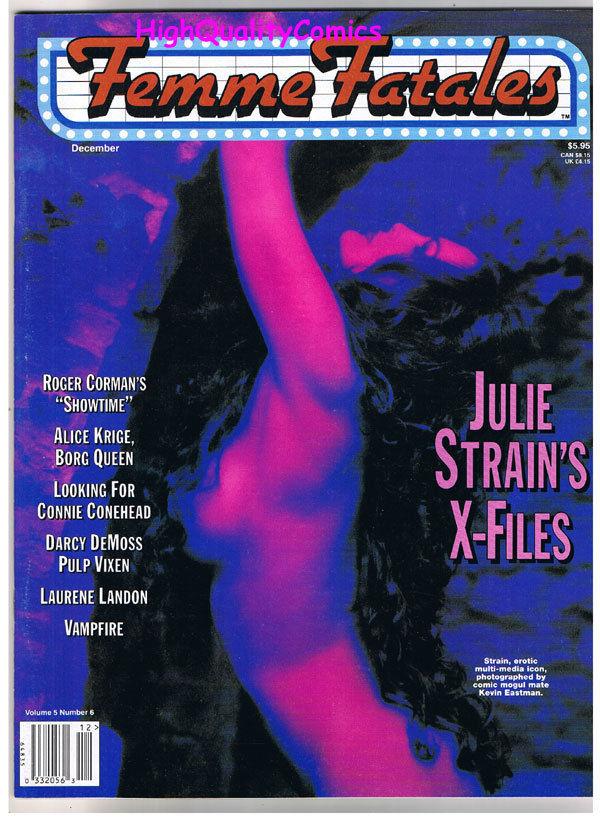 FEMME FATALES, VF+, December 1996, Julie Strain, Roger Corman, more in store