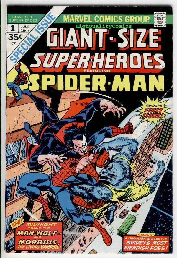 GIANT-SIZE SUPER-HEROES : SPIDER-MAN #1, VF+, Morbius, 1974, more ASM in store