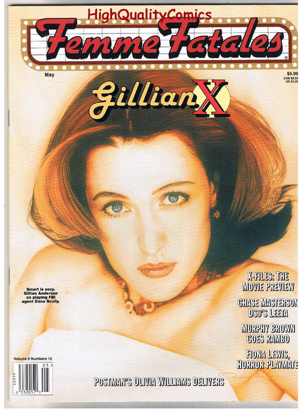 FEMME FATALES, VF+, May 1998, Gillian Anderson, X-Files, more in store