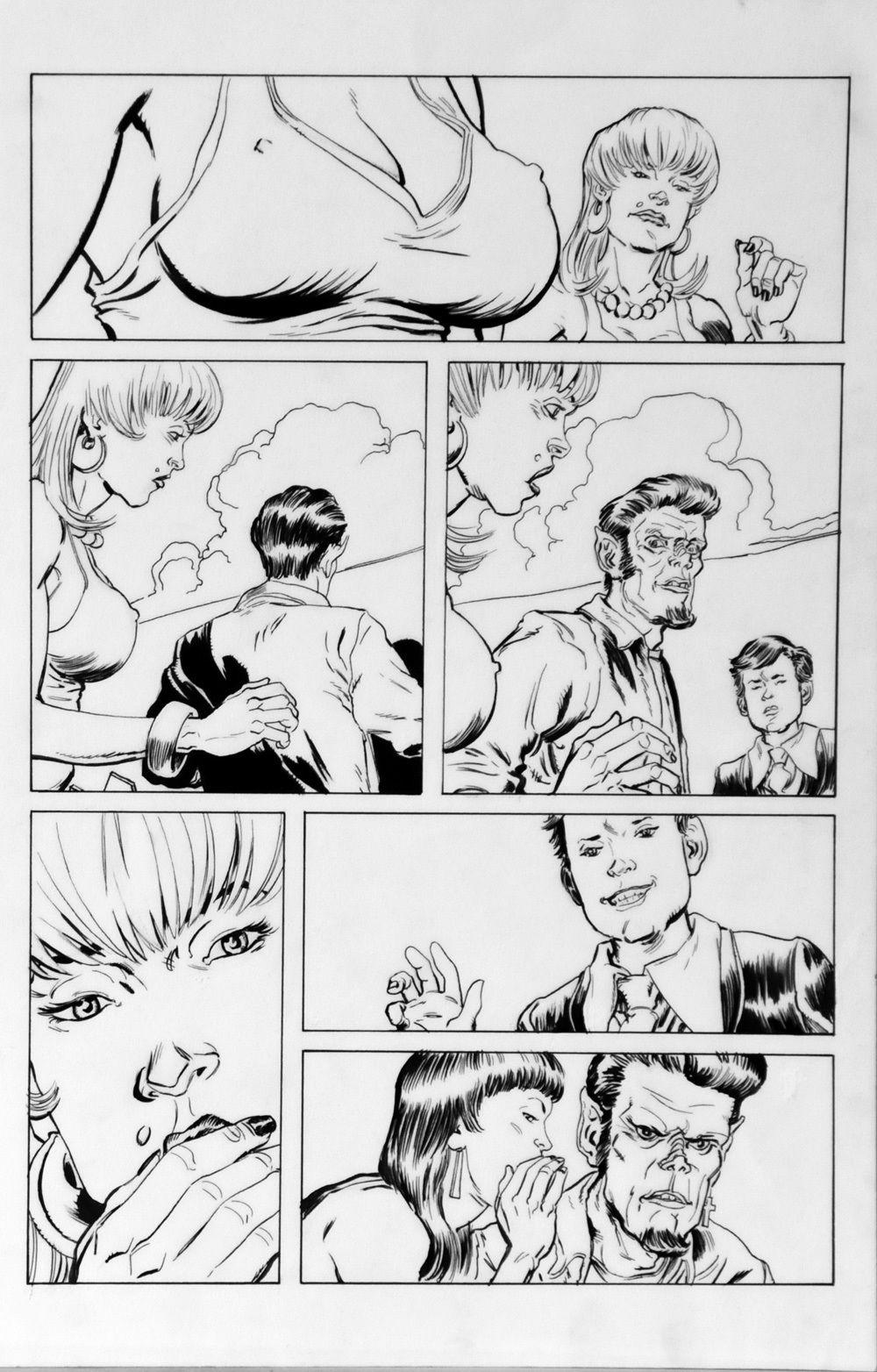 DEAN KOTZ Original Published Art, TRAILER PARK of TERROR #9 page 10, Zombies