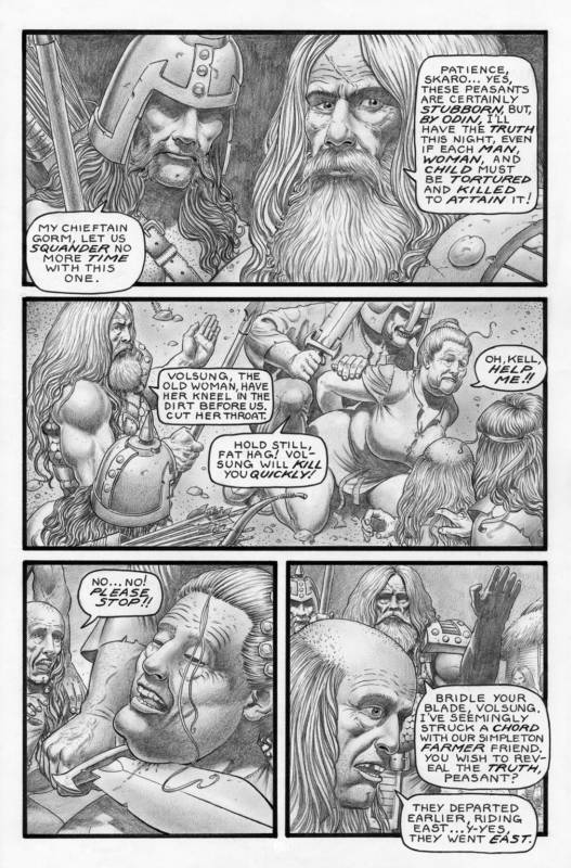 SEAN PATTY original art, WORGARD VIKING BERSERKER 1, 11x17, 2010, Battle, pg 11