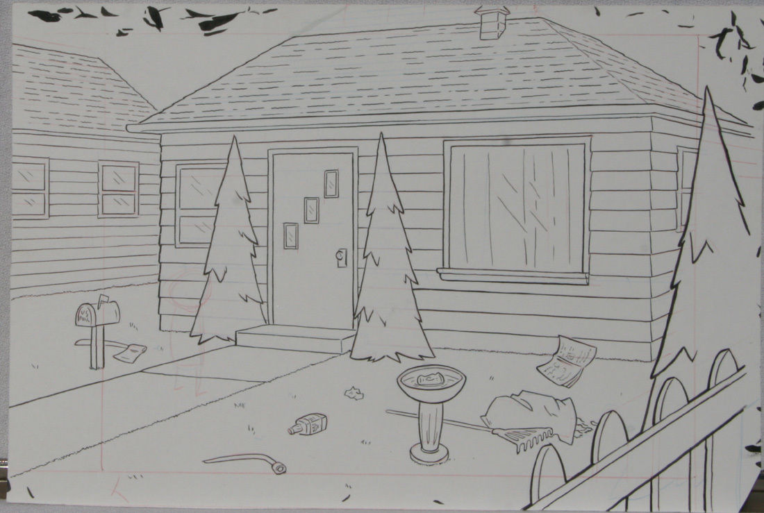 DOUGLAS PASZKIEWICZ original art, ARSENIC LULLABY pilot episode, 10.5