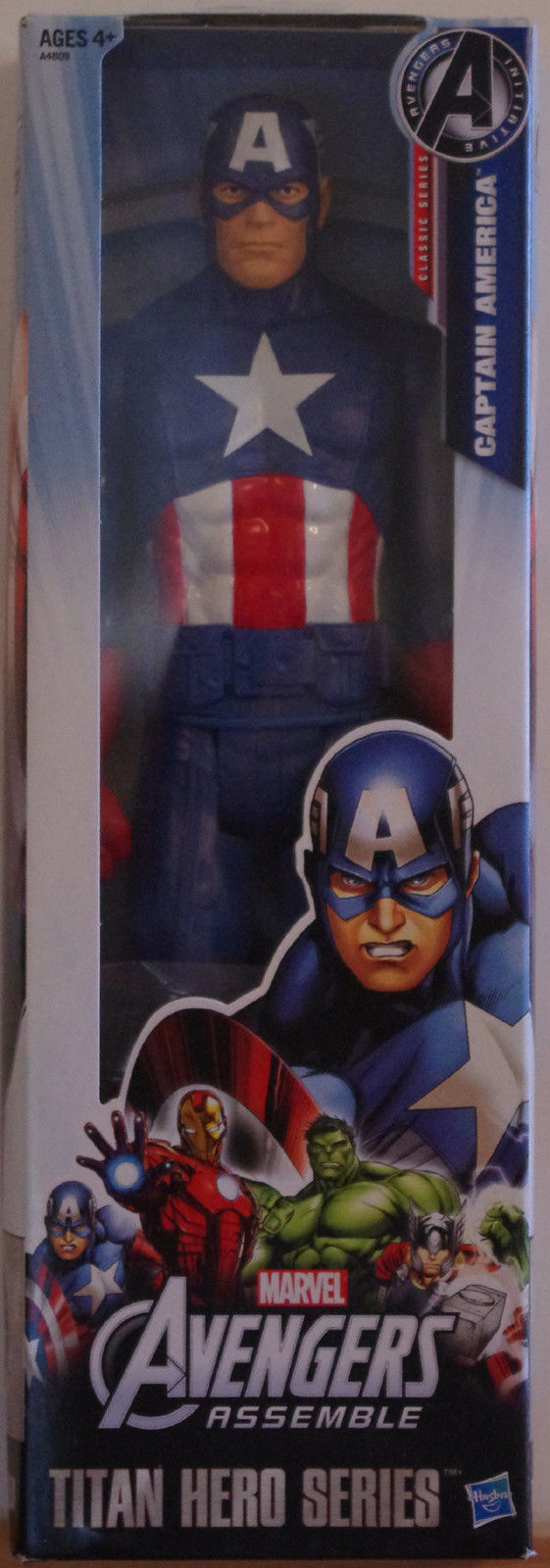 CAPTAIN AMERICA Action Figure, Titan Hero Series, 2012, Marvel, more AF in store