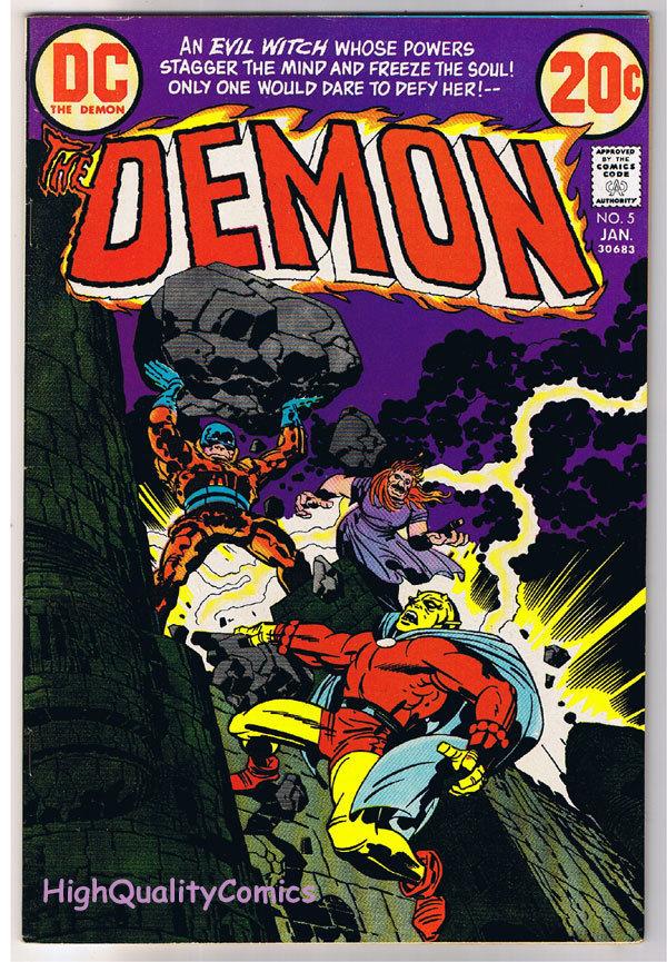 DEMON #5, VF+, Jack Kirby, 4th World, Merlin, 1972,  more JK in store