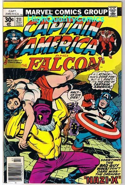 CAPTAIN AMERICA #211, VF, Jack Kirby, Falcon, 1968, more CA in store
