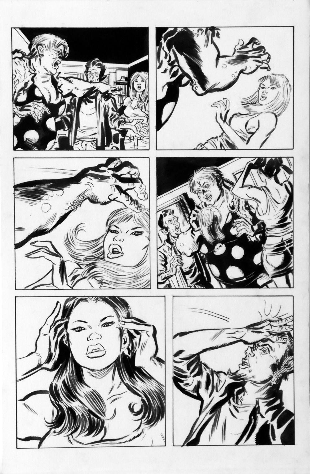 DEAN KOTZ Original Published Art, TRAILER PARK of TERROR #10 page 14, Zombies --
