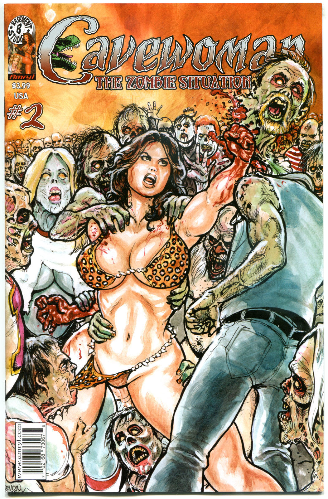CAVEWOMAN ZOMBIE Situation #2, VF/NM, Undead, Budd Root, 2014, more CW's in store