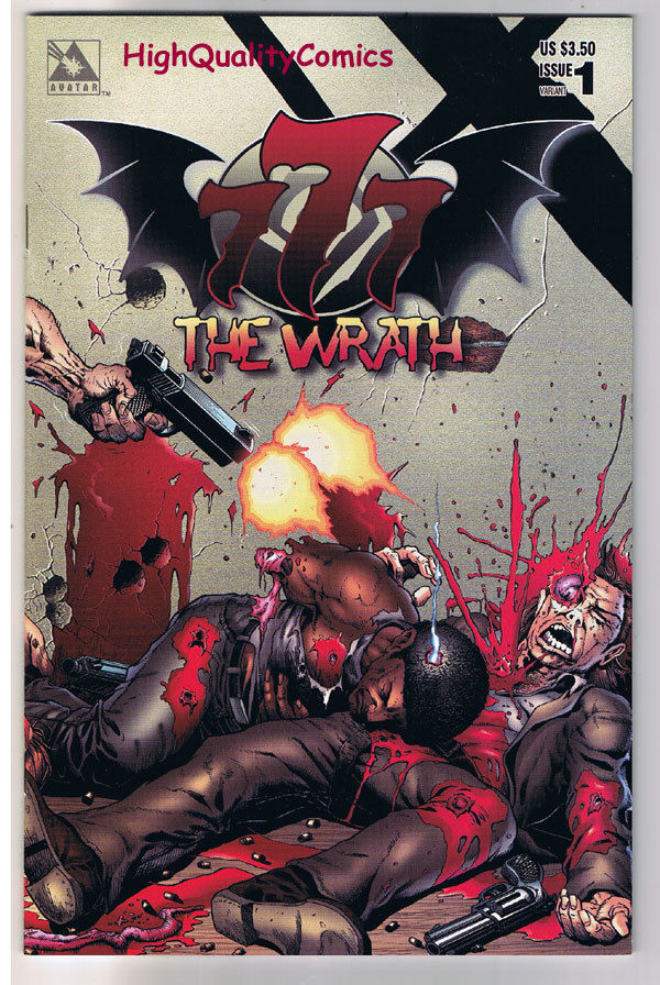 777 : The WRATH #1, NM, Wrap Variant, Tim Vigil, Adult, 1998, more TV in store