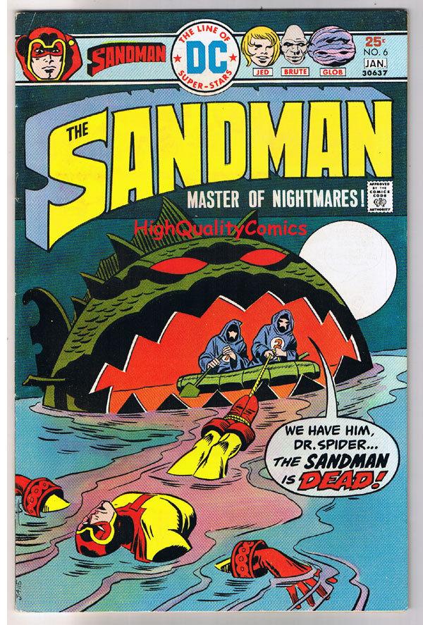 SANDMAN #6, Jack Kirby, Wally Wood, Destroy, 1974, VF