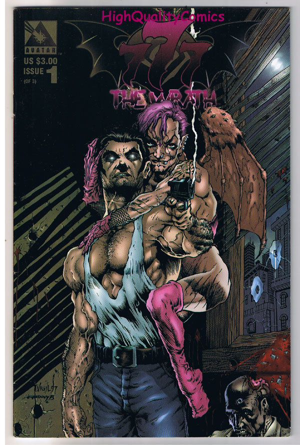 777 : The WRATH #1, Tim Vigil, Avatar, Adult, 1998, VF