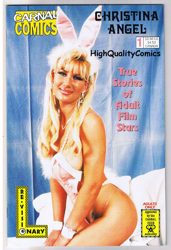 Carnal Comics : CHRISTINA ANGEL #1, NM-, Porn Star, Photo,1998, more in store