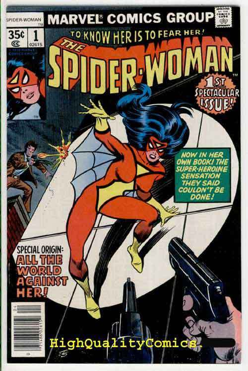 SPIDER-WOMAN #1, NM-, Origin, 1978, Spider-man, Fear Her, Carmine Infantino
