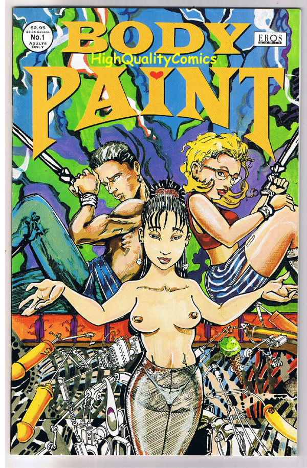 BODY PAINT #1, Raevyn, Eros, Adult, Nudity, 1995, NM-