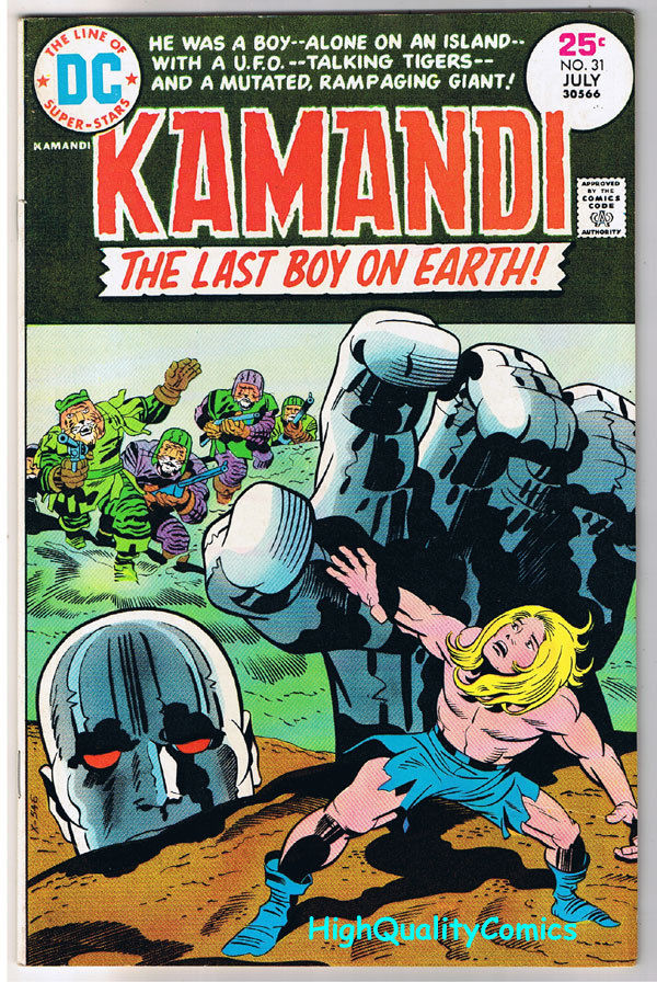 KAMANDI #31, VF, Jack Kirby, Last Boy on Earth, 1972, more JK in store
