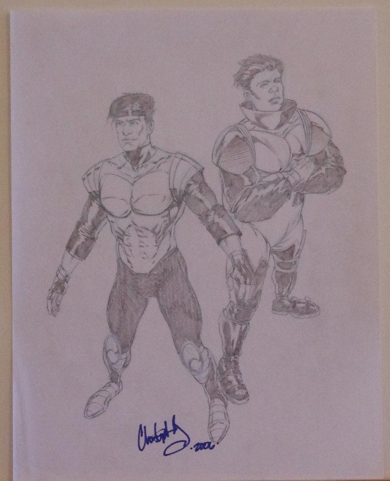 CHRIS IVY original art, Signed Sketch, 8.5x11, 2006, more art in store