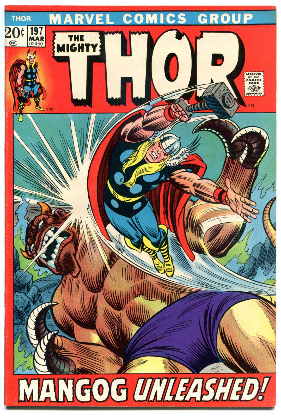 THOR #197, VF/NM to NM-, Thunder God,1952, John Buscema, Mangog, more in store