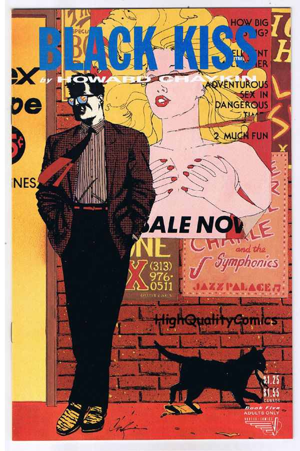 BLACK KISS #5,Howard Chaykin,Adult,1st,Nudity,1988,NM-