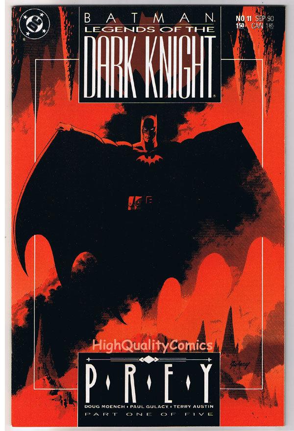 BATMAN: LEGENDS OF THE DARK KNIGHT #11, NM+, Prey, 1989, more LotDK in store