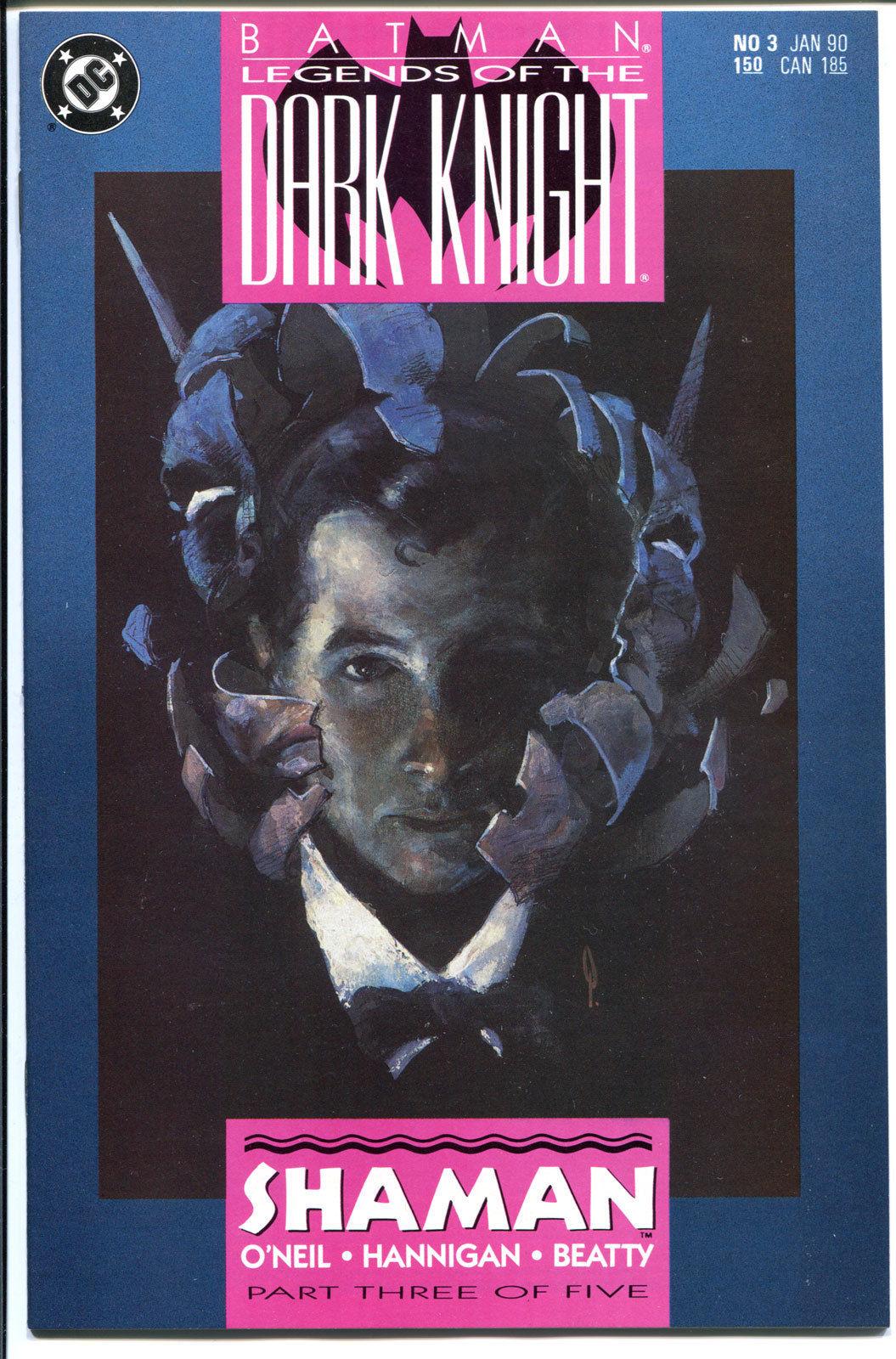 BATMAN: LEGENDS OF THE DARK KNIGHT #3, Shaman, 1989,NM+
