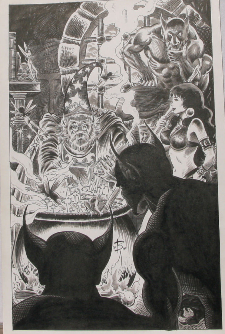 NEWTON BURCHAM original published art PIRATE QUEEN Splash page 20, 11