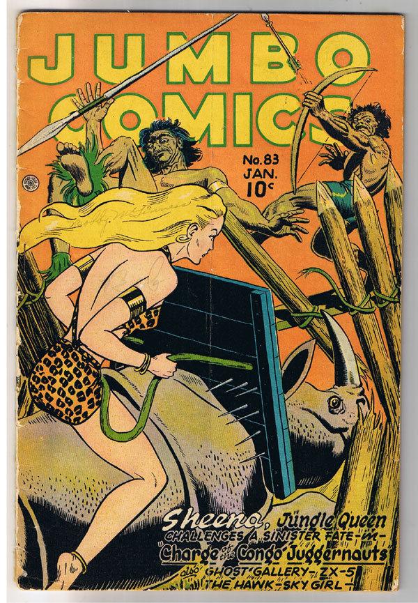 JUMBO COMICS #83, VG, Sheena Queen of Jungle, 1938, Golden Age, Pre-code