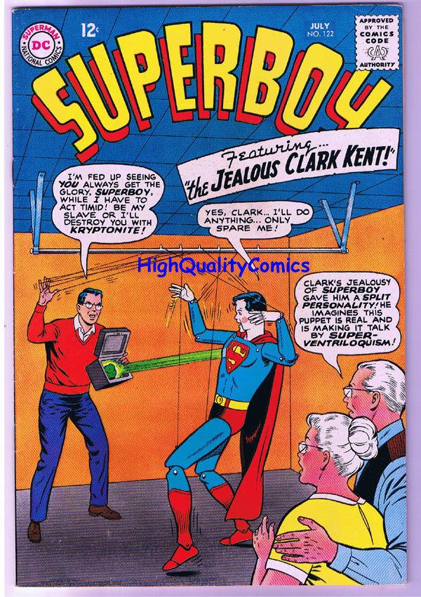 SUPERBOY #122, FN, Jealous Clark Kent, Krypto, 1949