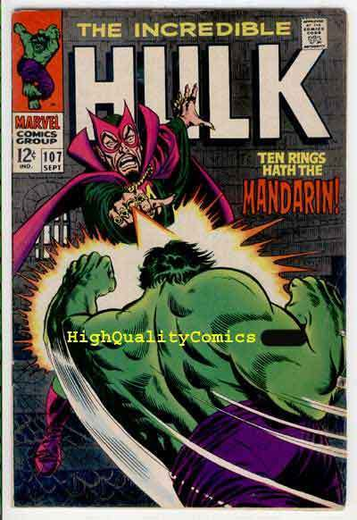 HULK 107, FN+, Bruce Banner, Mandarin, Shield, Giant  Android, Marvel