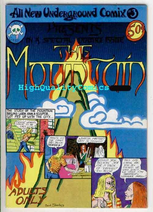MOUNTAIN #1, VF+, 1st, Underground, 1973, Larry Todd, Silverberg, High School