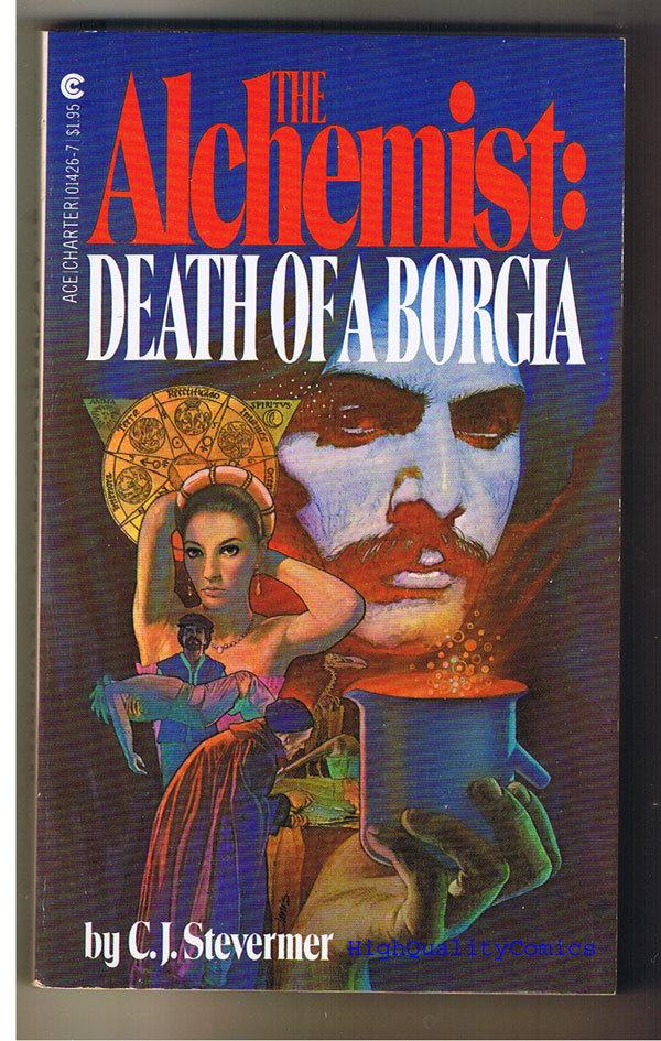 ALCHEMIST DEATH OF A BORGIA pb, VG+, Stevermer, 1981, 1st, unread
