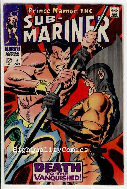 SUB-MARINER #6, VF+, Buscema,1968, Alantis,Tiger Shark