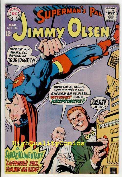SUPERMAN'S PAL JIMMY OLSEN #109, VF+ to NM, Lex Luthor, Neal Adams