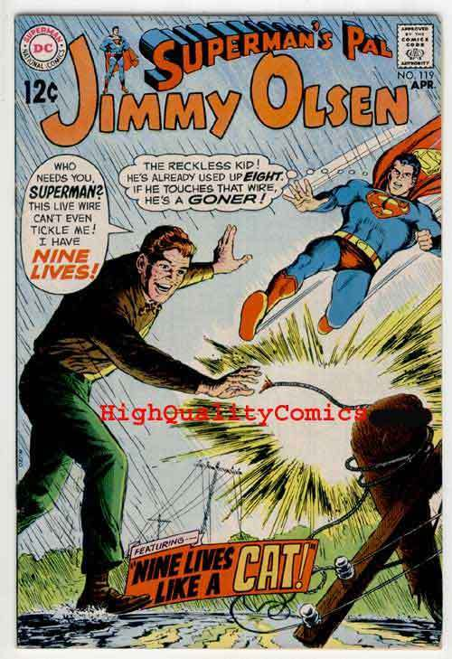 SUPERMAN'S PAL JIMMY OLSEN #119, VF+, Nine Lives, Lady Killer of Metropolis