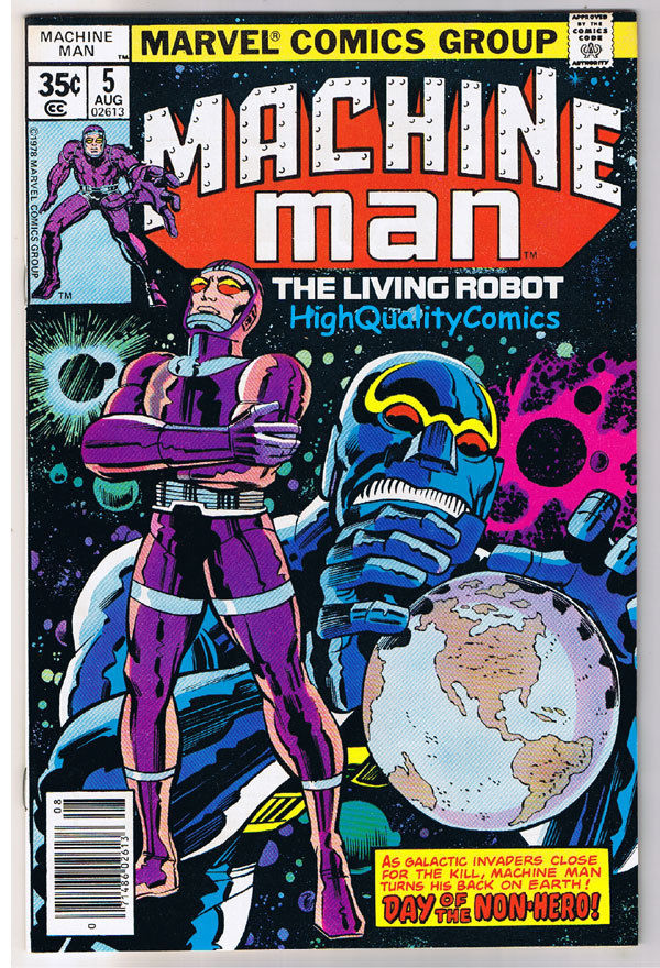 MACHINE MAN #5, Jack Kirby, Living Robot, 1978, VF/NM