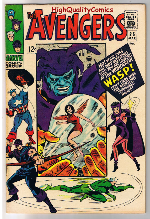 AVENGERS #26, VF+, Captain America, Wasp, Don Heck,1963, more in store
