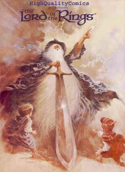 LORD of the RINGS, Movie Progam book,1978, Tolkien, VF, Hobbit, Bilbo Baggins