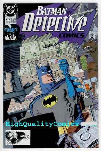 DETECTIVE #619, NM+, Batman, Alan Grant, 1990, Gotham City, more DC in store