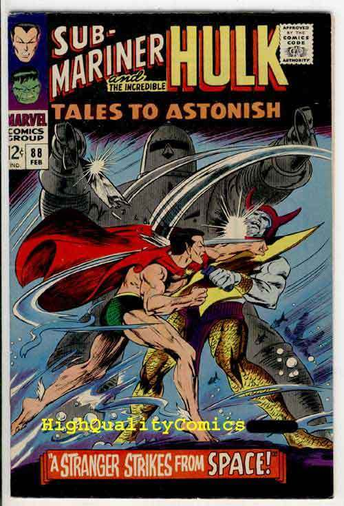 TALES To ASTONISH #88, VF+, Hulk, Sub-Mariner, Bill Everette, 1967, Gil Kane