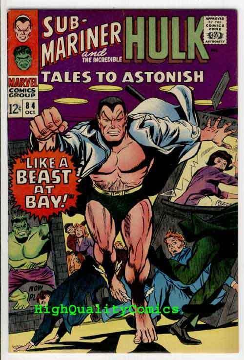 TALES To ASTONISH #84, VF+,  Hulk, Sub-Mariner, Jack Kirby, 1966, Gene Colan