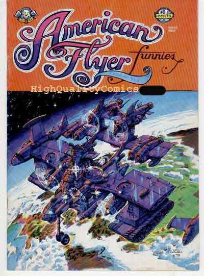 AMERICAN FLYER FUNNIES #2,  FN+, 1st, Underground, Welz, Todd,1972