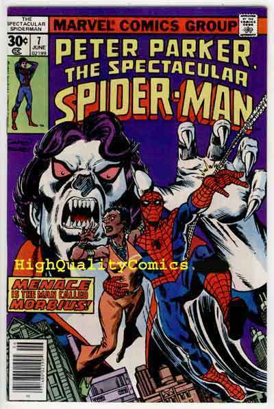 SPECTACULAR SPIDER-MAN #7,  VF+ to NM, Vampire, Morbius, Sal Buscema,