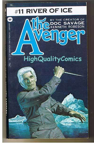 AVENGER 11, RIVER OF ICE pb, FN-, Ken Robeson, 1973, Unread, more in store