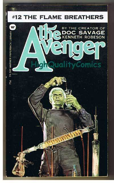 AVENGER 12, FLAME BREATH pb, FN-, Ken Robeson, 1973, Unread, more in store