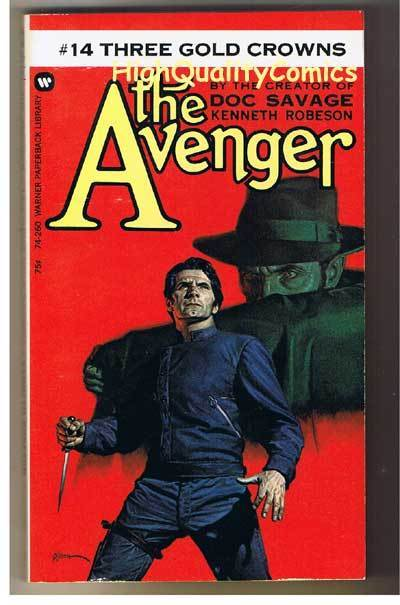 AVENGER 14, 3 GOLD CROWNS pb, FN-, Ken Robeson, 1973, Unread, more in store