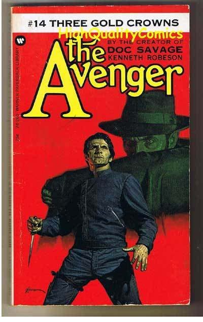 AVENGER 14, 3 GOLD CROWNS pb, VG, Ken Robeson, 1973, Unread, more in store