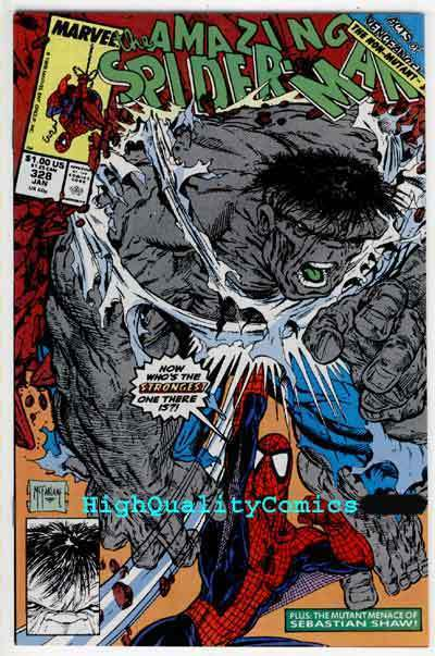 AMAZING SPIDER-MAN #328, vs HULK, NM, Todd McFarlane, Acts of Vengeance