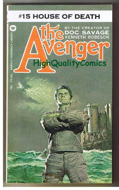 AVENGER 15, HOUSE OF DEATH pb, FN, Ken Robeson, 1973, Unread, more in store