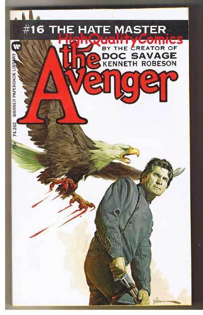 AVENGER 16, HATE MASTER pb, FN-, Ken Robeson, 1973, Unread, more in store