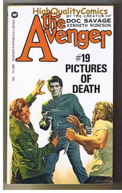 AVENGER 19, PICTURES OF DEATH pb, FN-, Ken Robeson, 1973, Unread, more in store