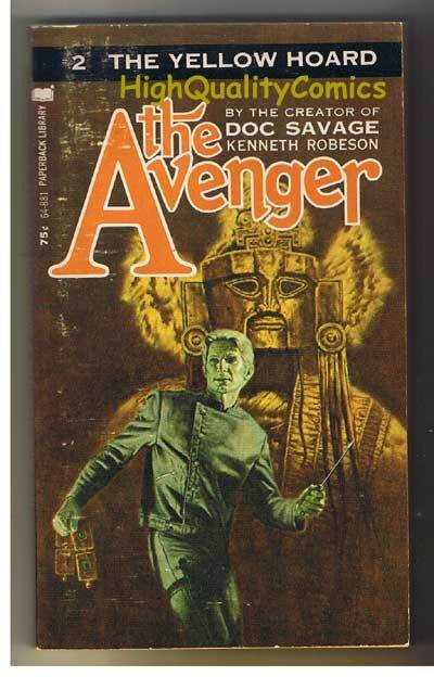 AVENGER 2, YELLOW HOARD pb, VG, Ken Robeson, 1973, Unread, more in store